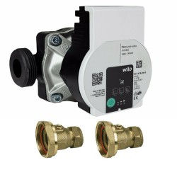 Wilo HEATING CIRCULATOR PUMP 60-130 FOR HOT WATER HEATING SYSTEM+VALVES