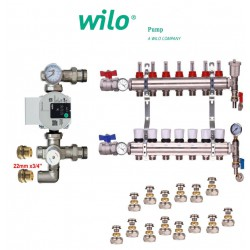 3 Ports Underfloor Heating Complete Manifold +(A) Rated Wilo Pump