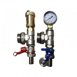 AUTOMATIC AIR VENT & PRESSURE GAUGE SET