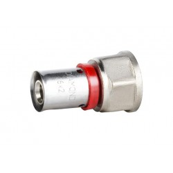 16MMX1/2'' PRESS TO FEMALE  STRAIGHT CONNECTOR