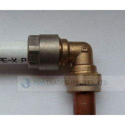 ELBOW REDUCER 16MM PEX PIPE TO 15MM COPPER PIPE
