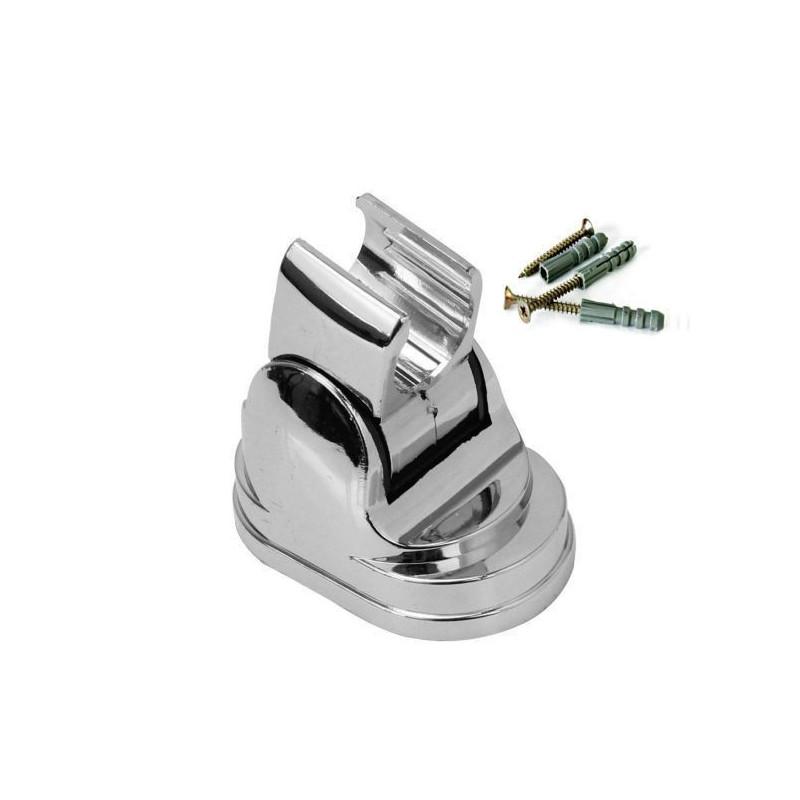 Adjustable Chrome Wall Mounted Bathroom Shower Head Holder Bracket Mount ABS