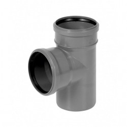 GREY WASTE TEE  Ø 110/110 PIPE DRAIN