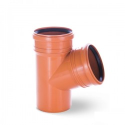 ORANGE WASTE TEE  Ø 110/110 PIPE DRAIN 67 ANGLE