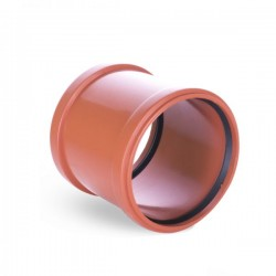 WASTE DOUBLE SOCKET REPAIR COLLAR Ø 110mm ORANGE PIPE DRAIN