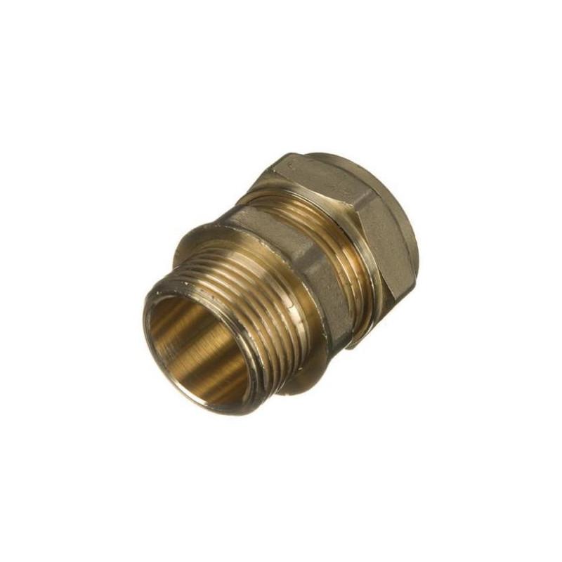 "Straight Adaptor 15 mm x 1/2"" Compression x BSP  Male"