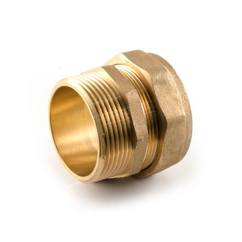 "Compression Straight Adaptor - 42mm x 1.1/2"""