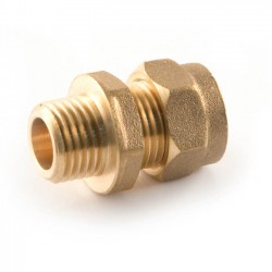Compression Straight Adaptor - 8mm x 3/8""