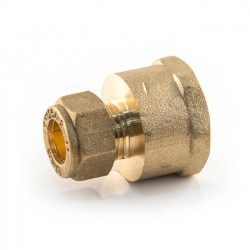 Compression Straight Adaptor - 15mm x 3/8""