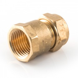 Compression Straight Adaptor - 8mm x 1/4""