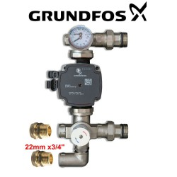 GRUNDFOS UPM3 PUMP 25-70 130 WITH BLENDING VALVE FOR UNDERFLOOR HEATING