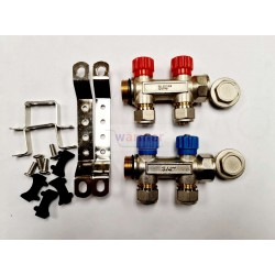 PLUMBING MANIFOLD 3/4'' WITH 1/2'' OUTLET HOT COLD WATER PACK 2 PORT