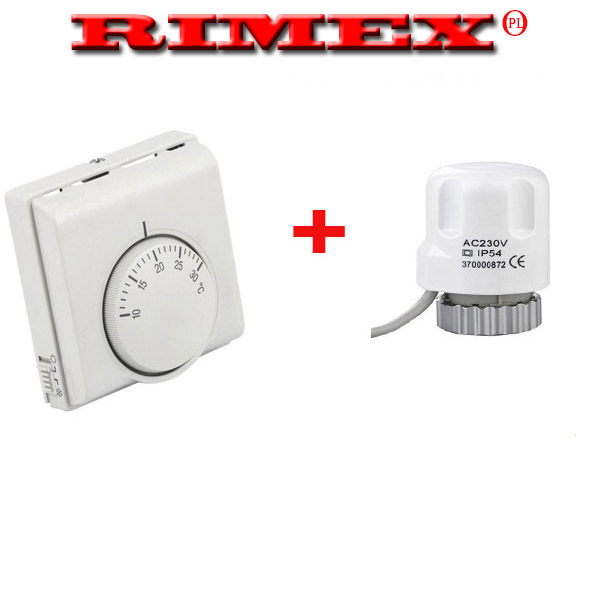 CENTRAL HEATING ROOM THERMOSTAT WITH MANIFOLD\'S ACTUATOR IDEAL FOR ...