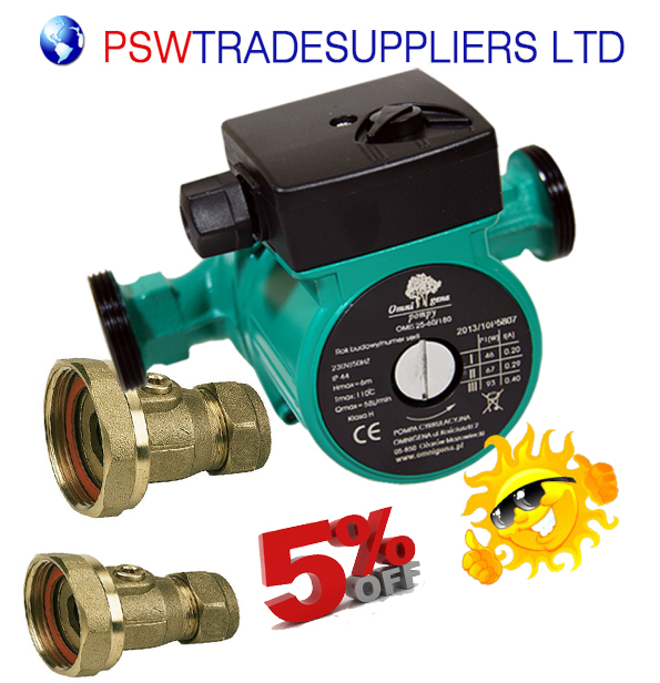 CENTRAL HEATING CIRCULATOR PUMP OMIS 60-130 FOR HOT WATER HEATING ...