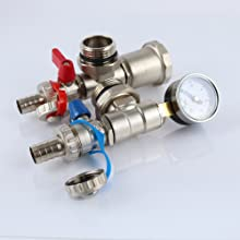 automatic air vent and pressure gauge for manifold