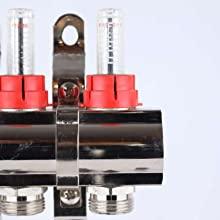manifold flow meter flow regulator