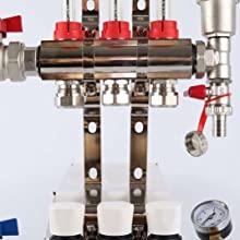 underfloor heating manifold pre-assembled